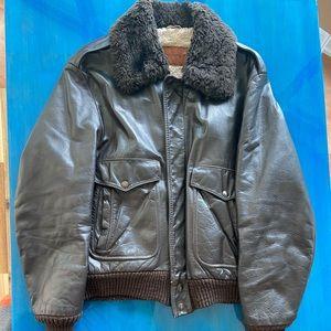 Vintage aviator leather jacket